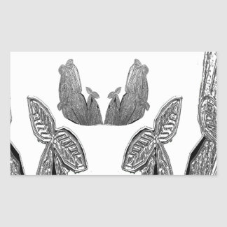SILVER foil Cactus  -  Green Theme Rectangle Sticker