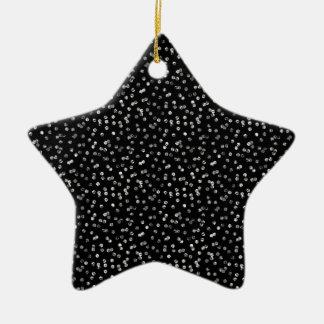 Silver Foil Confetti Christmas Ornament