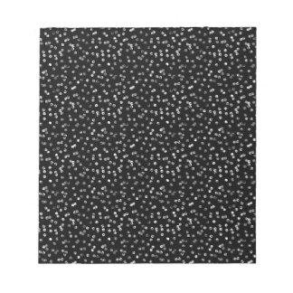 Silver Foil Confetti Notepad