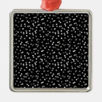 Silver Foil Confetti Silver-Colored Square Decoration