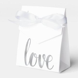 Silver foil favor boxes party favour box