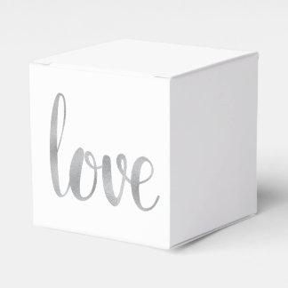 Silver foil favor boxes party favour boxes