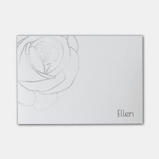 Silver Foil Rose, Post-it® Notes