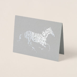 Silver Foil Unicorn Foil Card