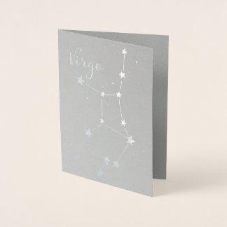 Silver Foil Virgo Zodiac Constellation Foil Card