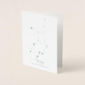 Silver Foil VIRGO Zodiac Sign Constellation Foil Card