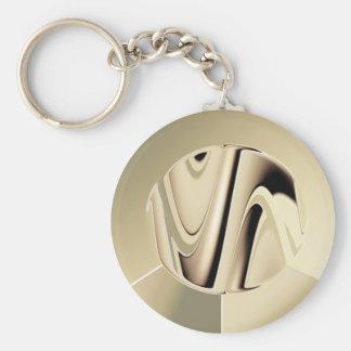Silver Football Keychain