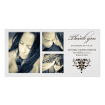 SILVER FORMAL COLLAGE | WEDDING THANK YOU CARD PHOTO CARD TEMPLATE