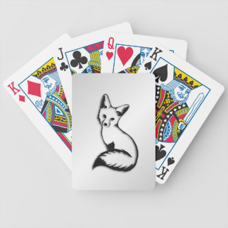 Silver Fox Bicycle Playing Cards