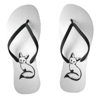 Silver Fox Flip Flops