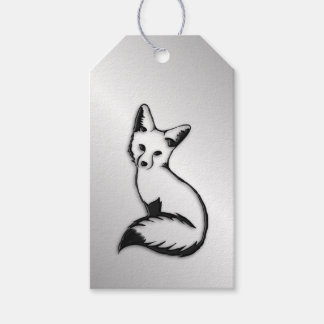 Silver Fox Gift Tags