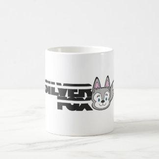Silver fox logo basic white mug