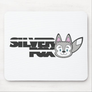 Silver fox logo mouse pad