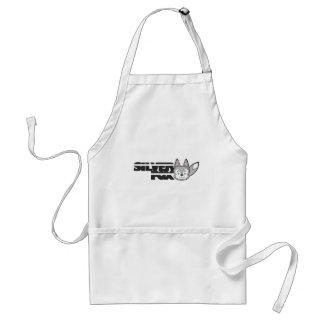 Silver fox logo standard apron