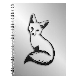 Silver Fox Spiral Notebook