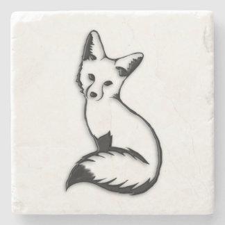 Silver Fox Stone Beverage Coaster