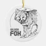 SILVER FOX VINTAGE CHRISTMAS ORNAMENT
