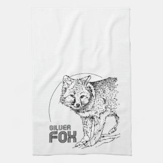 SILVER FOX VINTAGE TEA TOWEL