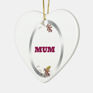 Silver Frame  Decorative Mum Christmas Ornament
