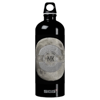 Silver Full Moon with Metallic Grunge Badge Crater SIGG Traveller 1.0L Water Bottle