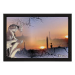 Silver Gargoyle of Notre Dame, print