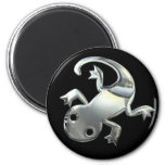 Silver Gecko Magnet