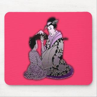 Silver Geisha Mouse Pad