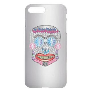 Silver Gemma Candy Skull Iphone Case