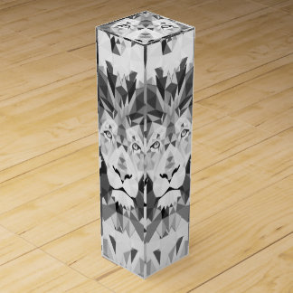 Silver Geometric Lion Wine Gift Boxes