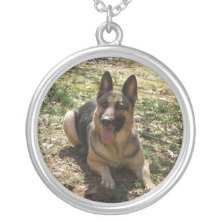 Silver German Shepherd Necklace