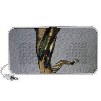 Silver gilt standing cup travel speakers