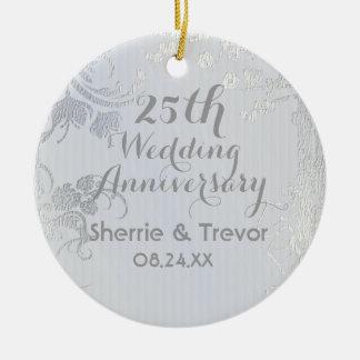 Silver Glimmer 25th Anniversary Christmas Ornament