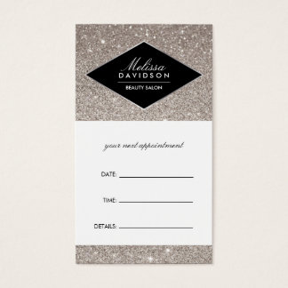 Silver Glitter and Glamour Appointment Card