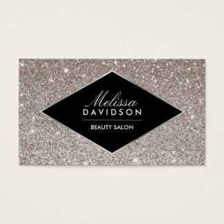 Silver Glitter and Glamour Beauty Business Card