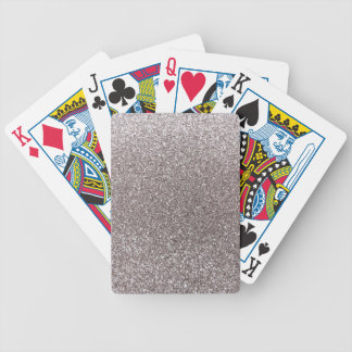 Silver glitter bicycle playing cards