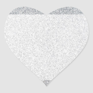 Silver glitter blank template heart sticker