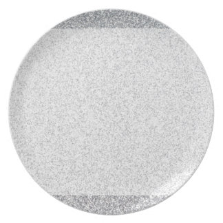 Silver glitter blank template plate