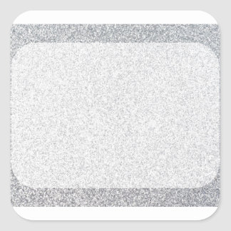 Silver glitter blank template square sticker