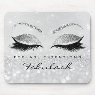 Silver Glitter Branding Beauty Studio Lashes 2Glam Mouse Mat
