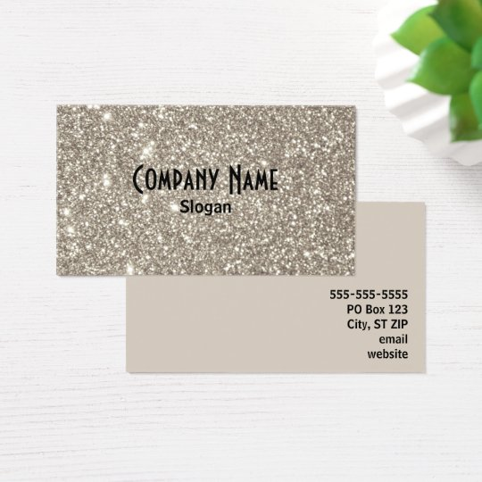 Silver Glitter Business Card