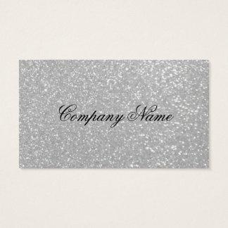 Silver glitter business card template