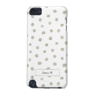Silver glitter dots iPod touch 5G case