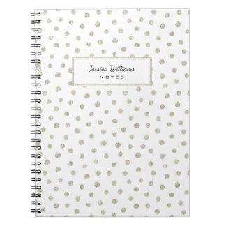 Silver glitter dots notebooks