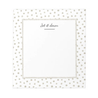 Silver glitter dots notepad
