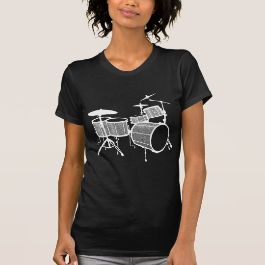 Silver Glitter Drums T-Shirt