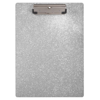 Silver glitter  faux sparkly glimmers clipboard