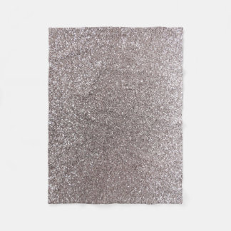 Silver glitter fleece blanket