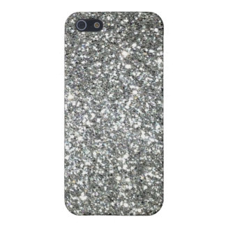 Silver Glitter Glamour Case For The iPhone 5
