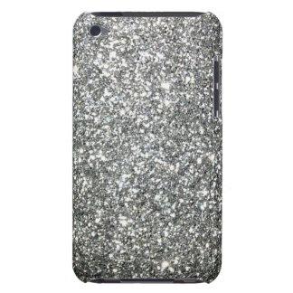 Silver Glitter Glamour iPod Case-Mate Case