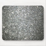 Silver Glitter Glamour Mouse Pad